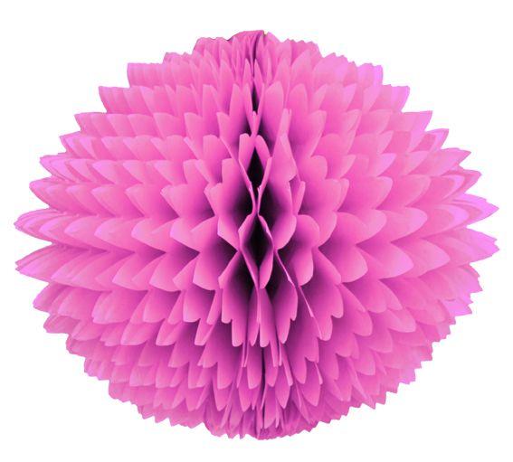 Enfeite de Papel de Seda Bola Pom Pom Rosa Choque Pompom de papel seda colmeia GiroToy Enfeites fazemos cores personalizadas