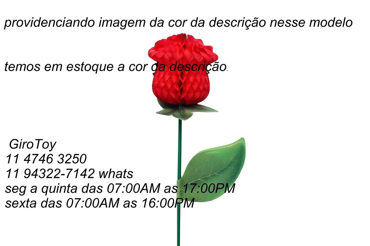 BOTÃO DE ROSA 50mm (5cm) Branco Rosinha com aroma lembrança dia das mães e namorados, decorar mesa GiroToy Enfeites