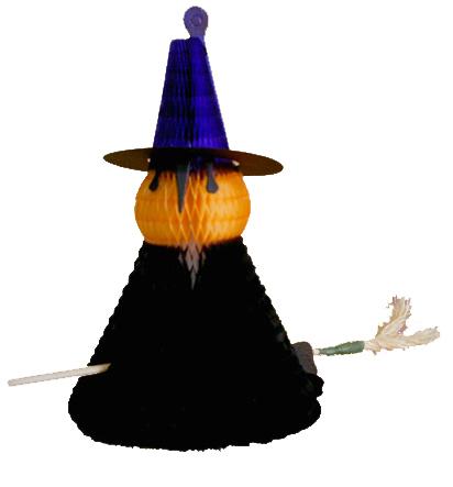 BRUXA 300mm (30cm) Bruxinha decoração de Halloween para ambientes escolas de linguas decoração de dia das bruxas - itens para decorar seu halloween GiroToy
