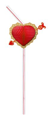 Enfeite de Papel Canudo BIODEGRADAVEL Coração c/ 10 Peças - GiroToy Enfeites - Fazemos outras cores - decoração dia das mães