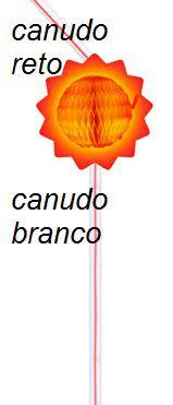 Canudo BIODEGRADAVEL Solzinho c/ 10 Peças - GiroToy Enfeites - Fazemos outras cores - decoração dia das mães