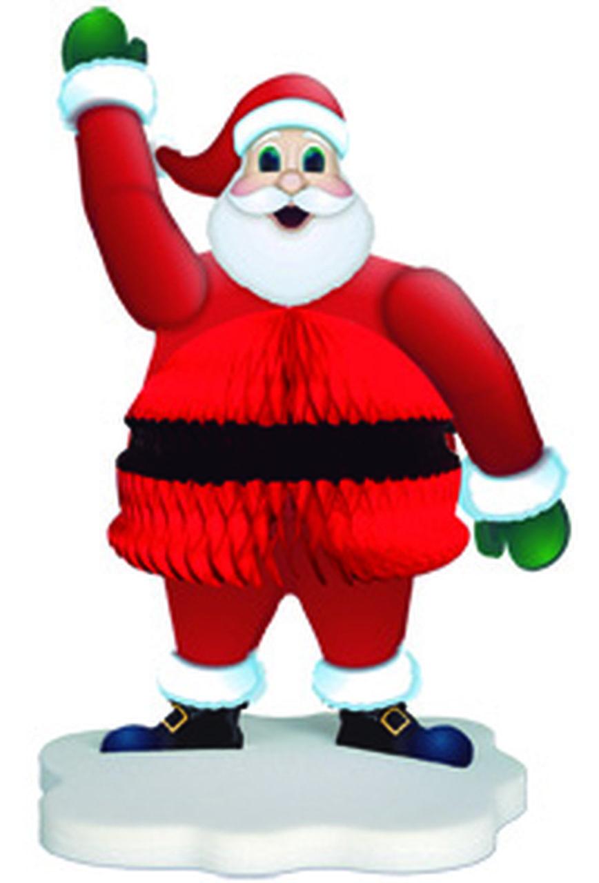 Enfeite para Mesa / Pendurável Ref.60  para pendurar na arvore de natal deixar em cima da mesa escritorio lanchonete bares boteco ideias de decoração natalina com papai noel de papel de seda