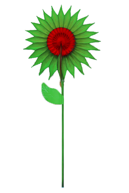 GIRASSOL 150mm (15cm) Verde c/ Vermelho
