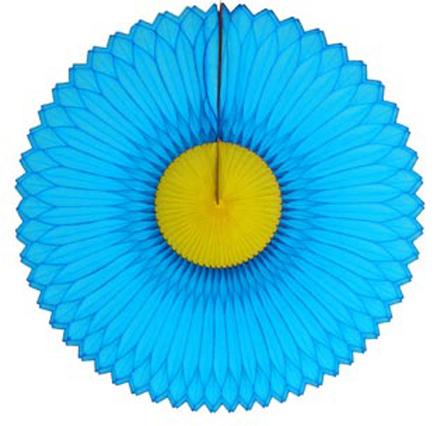GIRASSOL 420mm (42cm) Turquesa c/ Amarelo