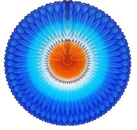GIRASSOL 630mm (63cm) Tons de Azul c/ Laranja Girassol para decorar parede teto chá lingerie cha de cozinha cha de bebe cha revelação decoração primavera vitrine de lojas GiroToy