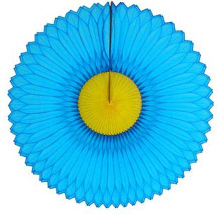 GIRASSOL 630mm (63cm) Turquesa c/ Amarelo Girassol para decorar parede teto chá lingerie cha de cozinha cha de bebe cha revelação decoração primavera vitrine de lojas GiroToy