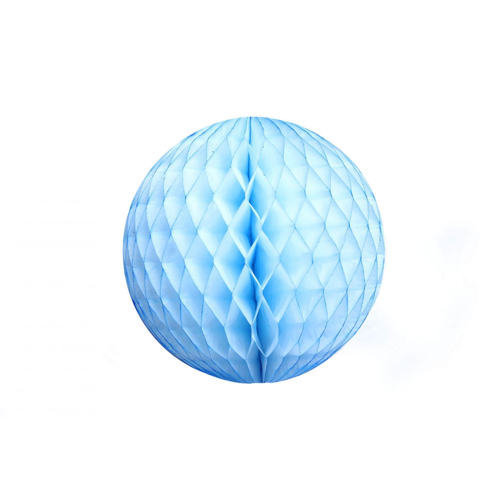 Balão GLOBO Bola de Papel de seda Cor Azul Claro GiroToy Enfeites