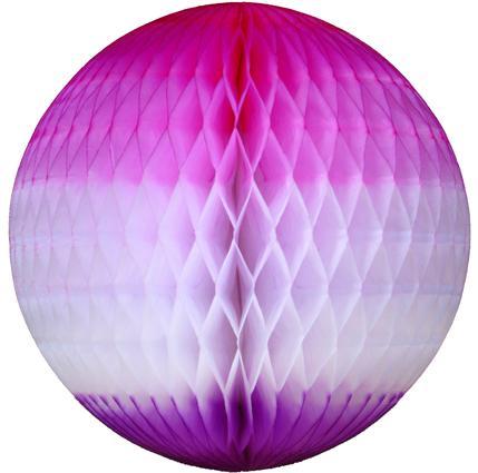 GLOBO 210mm (21cm) Tons de Rosa c/ Lilás