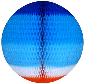 GLOBO 680mm (68cm) Tons de Azul c/ Laranja