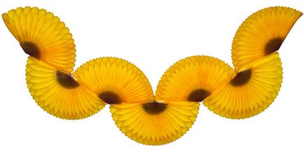 GUIRLANDA 870mm (87cm) Amarelo Ouro c/ Marrom bola pompom papel seda festa junina festa são joão ideia de decorações bolas de papel em brasilia minas gerais montes claros Rio de Janeiro GiroToy