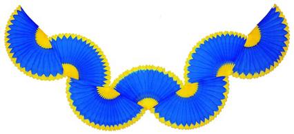 GUIRLANDA 870mm (87cm) Azulão c/ Amarelo