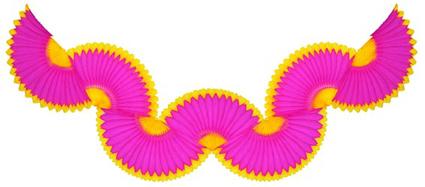 GUIRLANDA 870mm (87cm) Pink c/ Amarelo