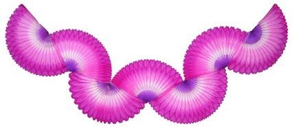 GUIRLANDA 870mm (87cm) Tons de Rosa c/ Lilás bola pompom papel seda festa junina festa são joão ideia de decorações bolas de papel em brasilia minas gerais montes claros Rio de Janeiro GiroToy