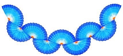 GUIRLANDA RENDADA 3000mm (30cm) Tons de Azul com Laranja