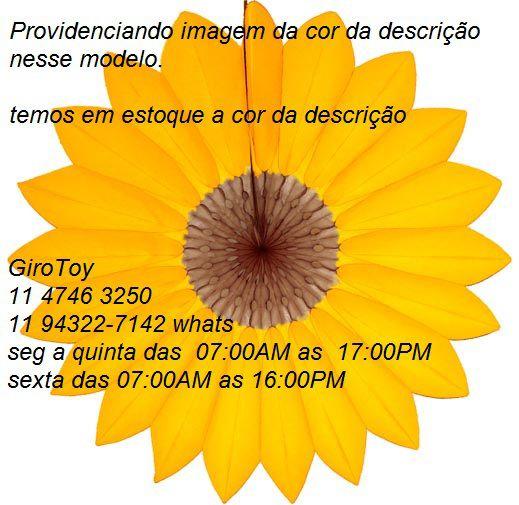 Enfeite de Papel Seda Margarida Primavera Tons de Azul c/ Laranja Decoração festa Primavera flores GiroToy
