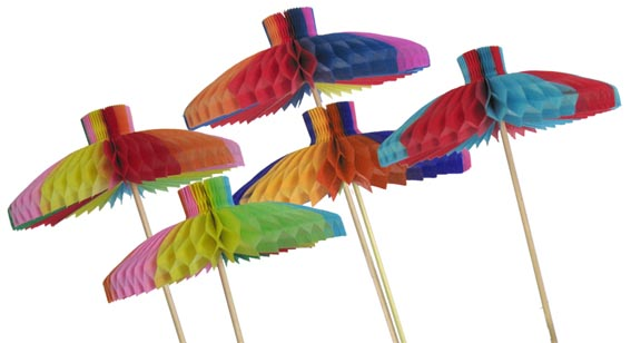 SOMBRINHA 120mm (12cm) com 5 peças Mini Guarda Chuva Frevo Sombrinha Carnaval Atacado Papel decoração de carnaval mesa bares boteco salvador olinda pernambuco GiroToy Enfeites Papel de seda