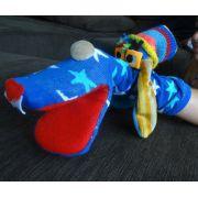 Meioche cachorro doido azul com estrelas