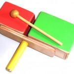 Bloquinho-percussao de tocar instrumento de percussao