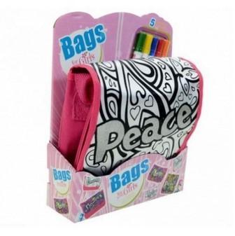 Bolsa BAG Peace com canetinhas