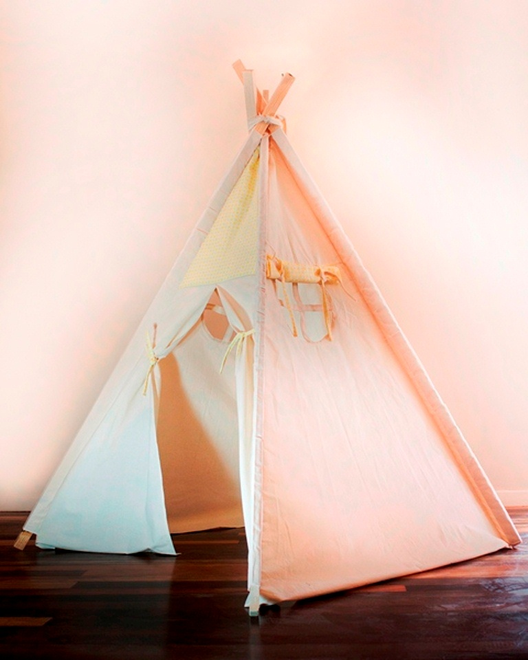 Cabana de indio desmontável  Amarela com janela lateral