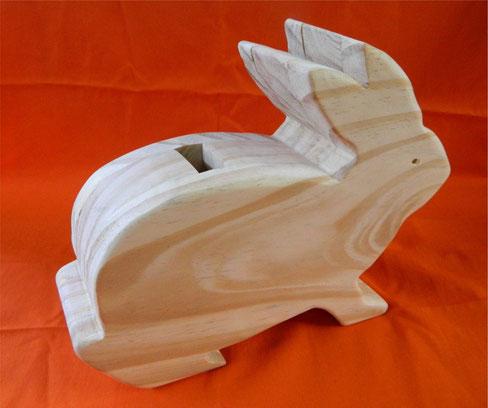 Cofre de madeira - coelho