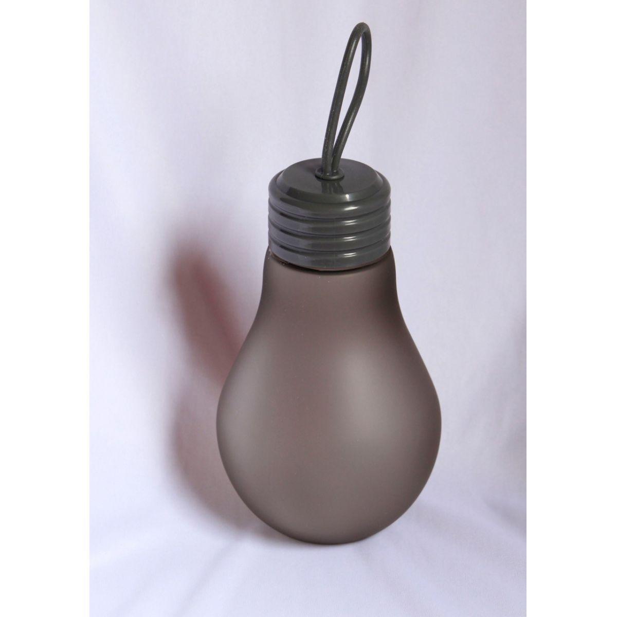 Garrafinha de água em formato de lâmpada