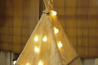 Luzes médias cor amarela (20 LED) 110V - 21F