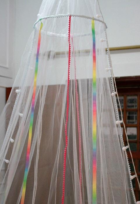 Mosquiteiro colorido solteiro 3m x 8m