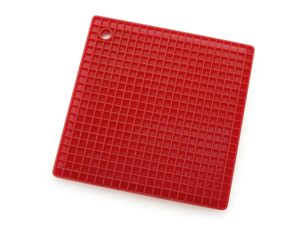 Descanso de Panela em Silicone Vermelho