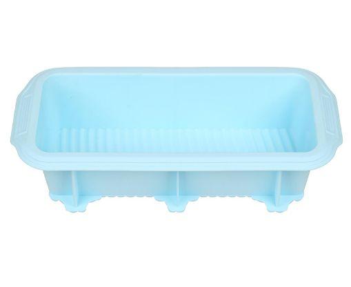 Forma de Bolo Quadrada de Silicone Azul HAUSKRAFT