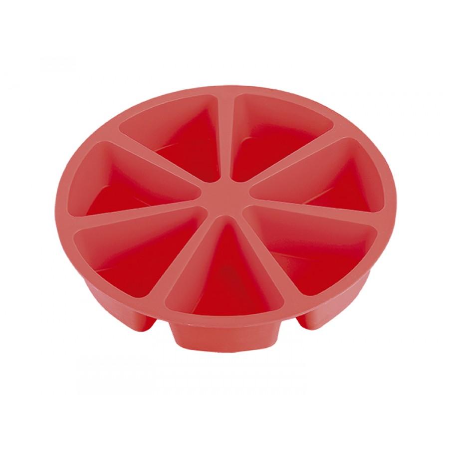 Forma Silicone Bolo em Fatias Vermelha