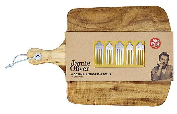 Tábua para queijo com 5 garfos para queijo Jamie Oliver