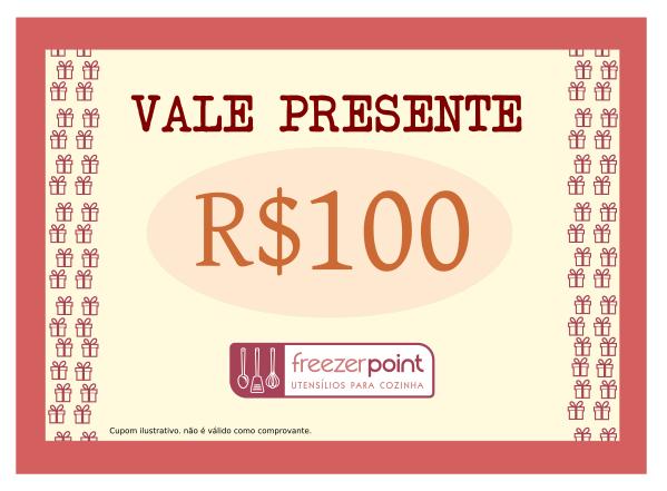 Vale Presente R$100,00 (Cem Reais)