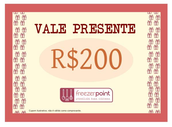 Vale Presente R$200,00 (Duzentos Reais)