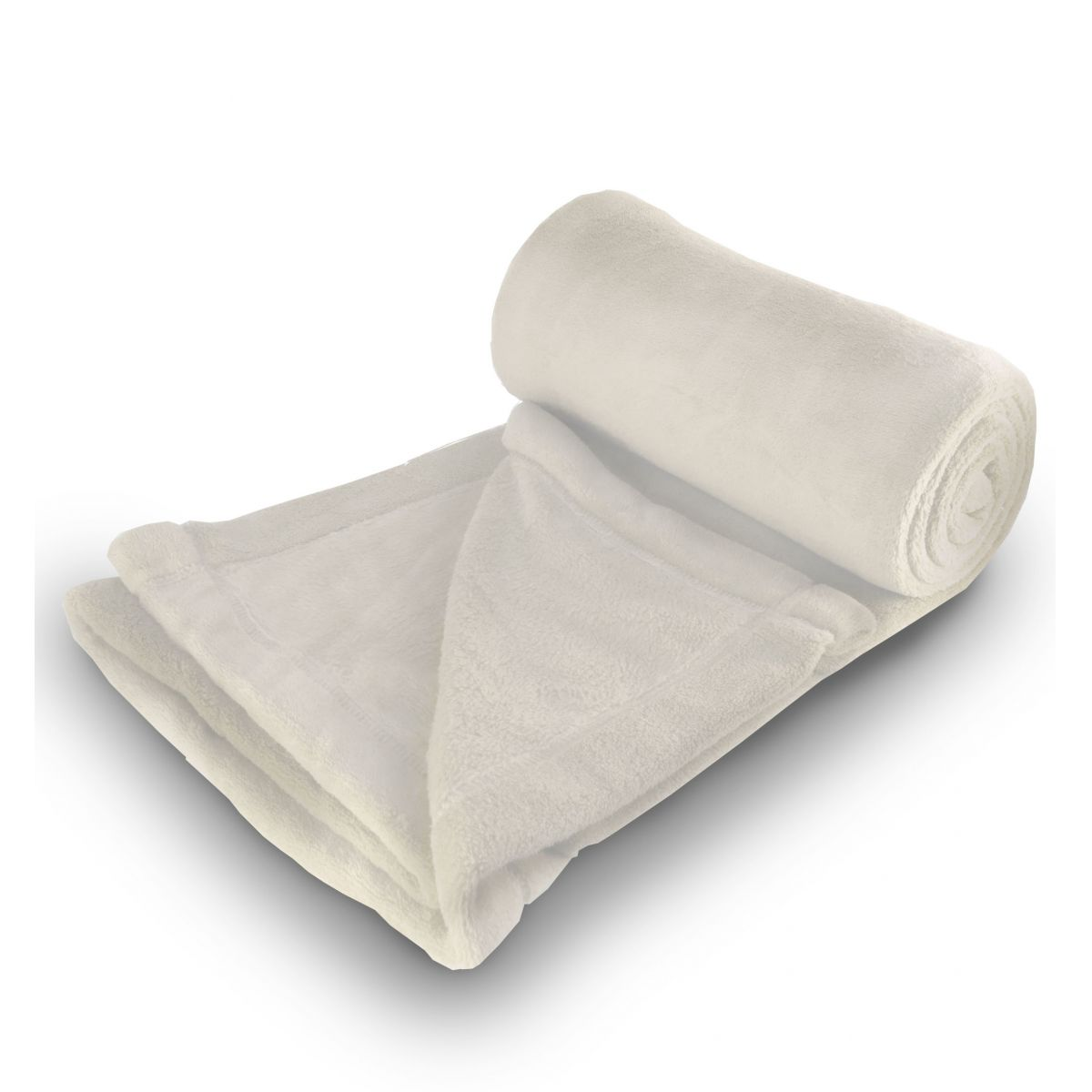 Cobertor de Microfibra Casal - Marfim