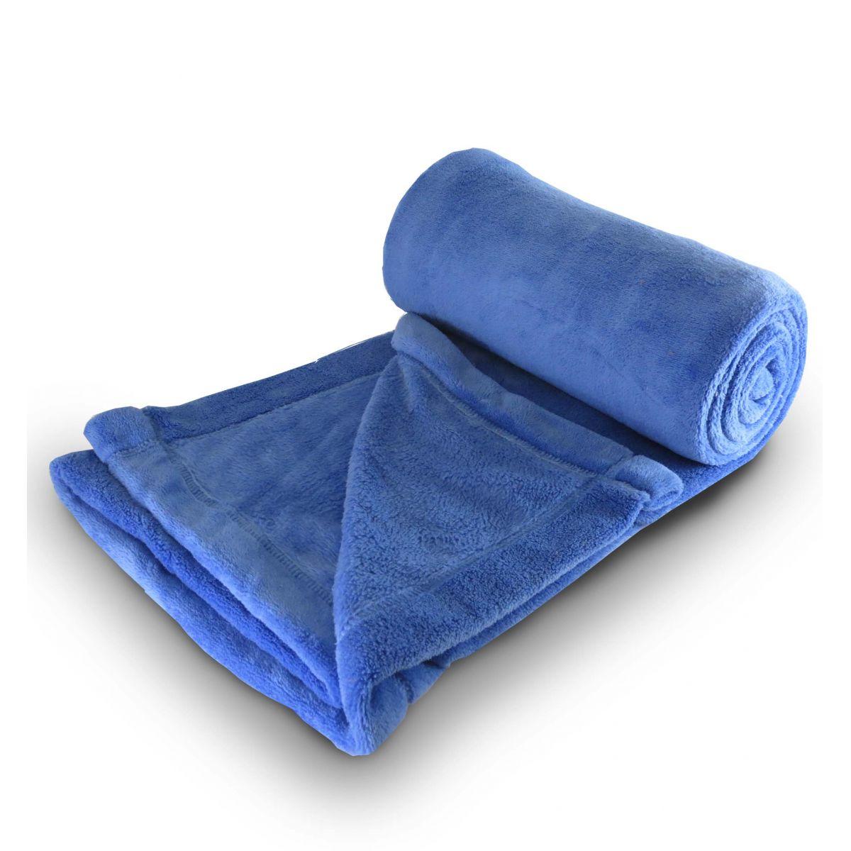 Cobertor de microfibra Solteiro - Azul