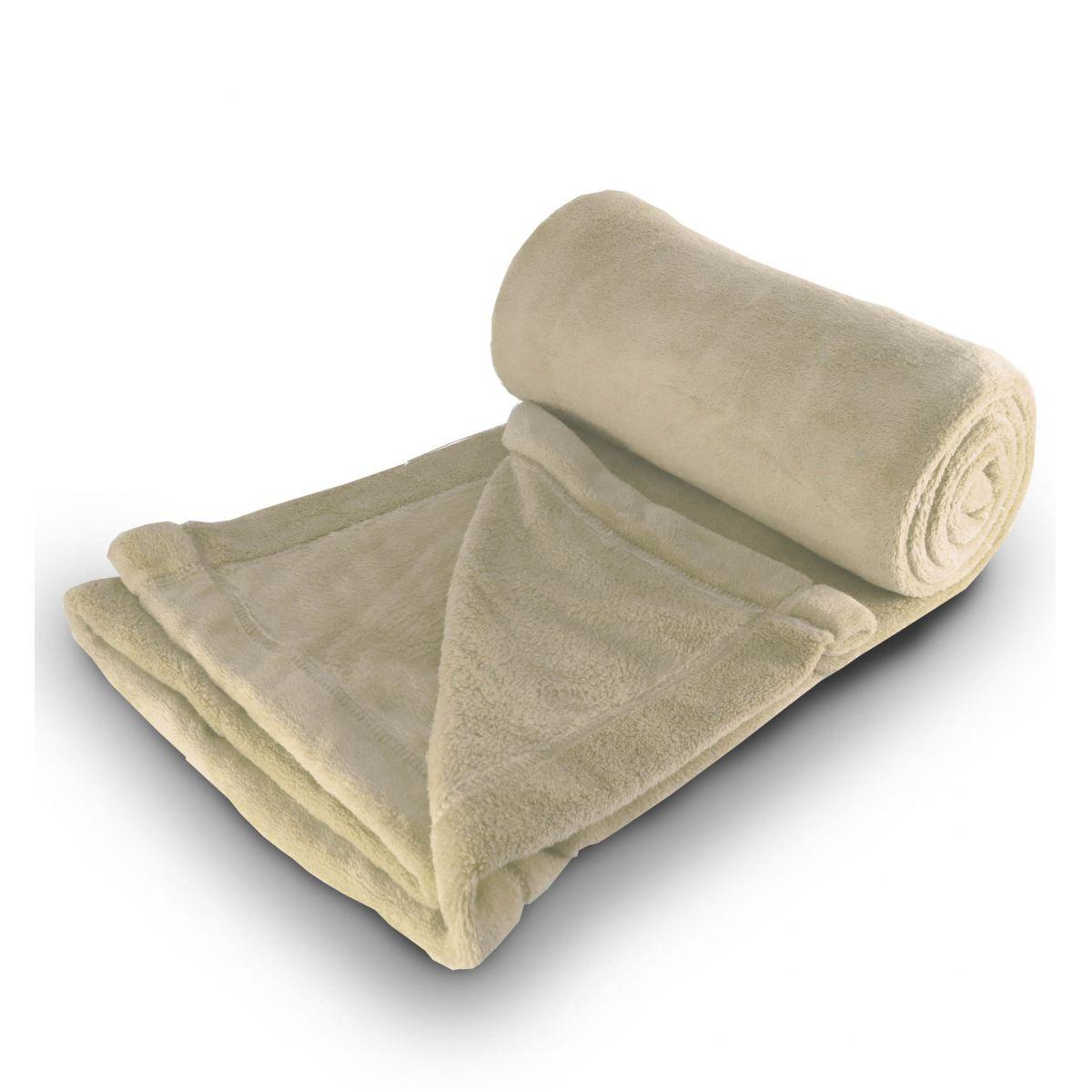 Cobertor de microfibra Solteiro - Bege