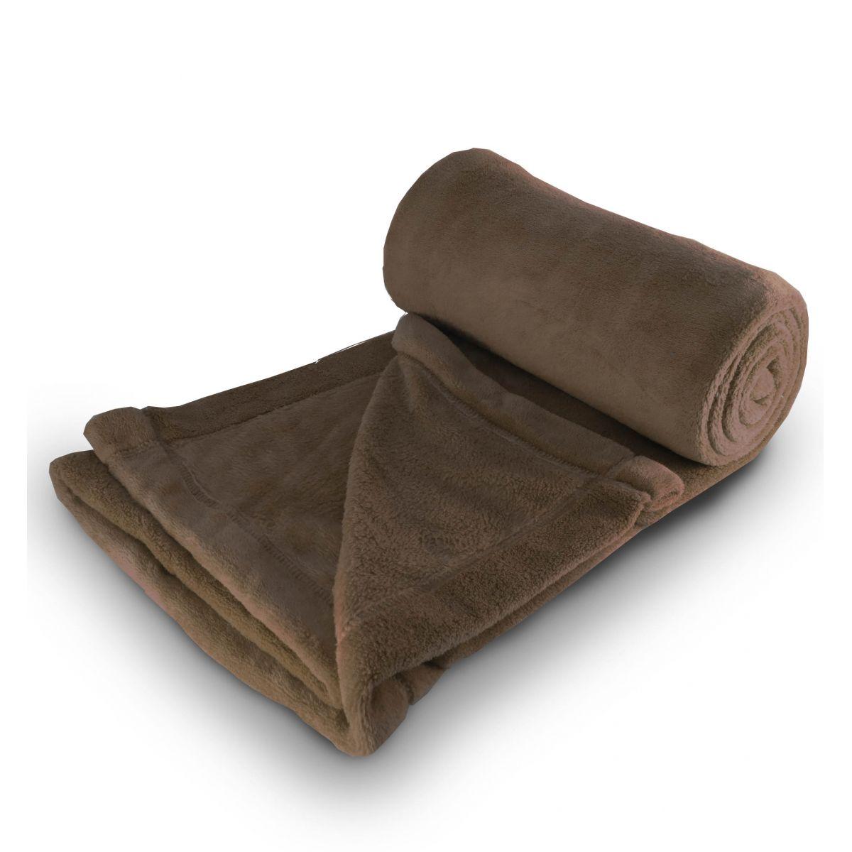 Cobertor de microfibra Solteiro - Marrom