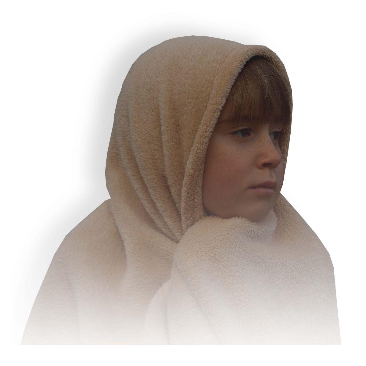 Manta infantil soft (Marrom) - Matinali Textil