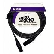 Cabo Microfone Santo Angelo Ninja Lw 20ft XLR   XLR 6.10 Metros