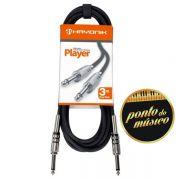 Cabo Hayonik Player P10 x P10 3 Metros Para Instrumentos