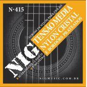 Encordoamento Nig N-415 Tensão Média Nylon P/ Violão