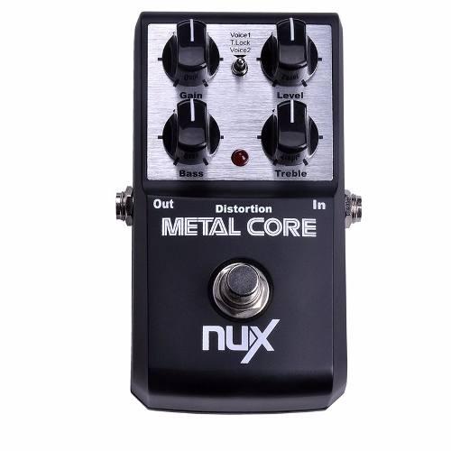 Pedal Distorção Nux Metal Core True Bypass