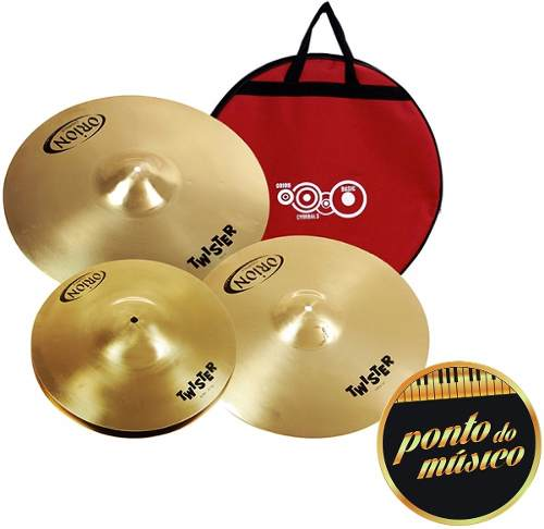 Kit Pratos Bateria Orion Twister Twr90 14 16 20 + Bag