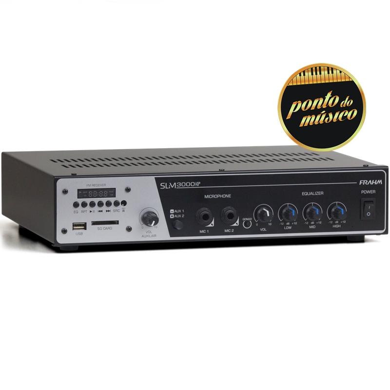 Amplificador Frahm Slim 3000 Usb 200W RMS