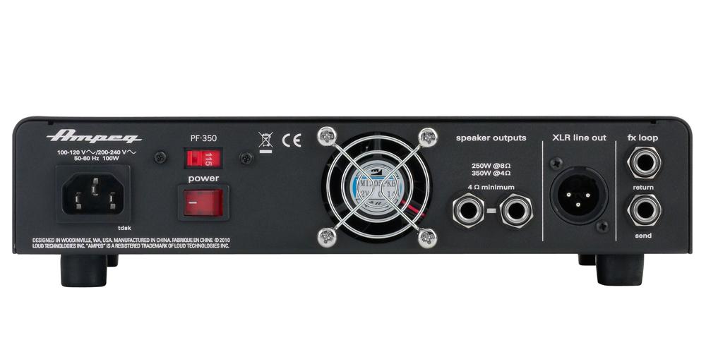 Cabeçote Ampeg Portaflex PF350 350w Rms P/ Contra Baixo