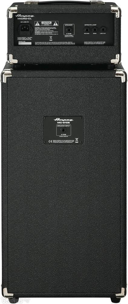 Combo Cabeçote E Caixa Contra Baixo Ampeg Micro-CL 100w Rms