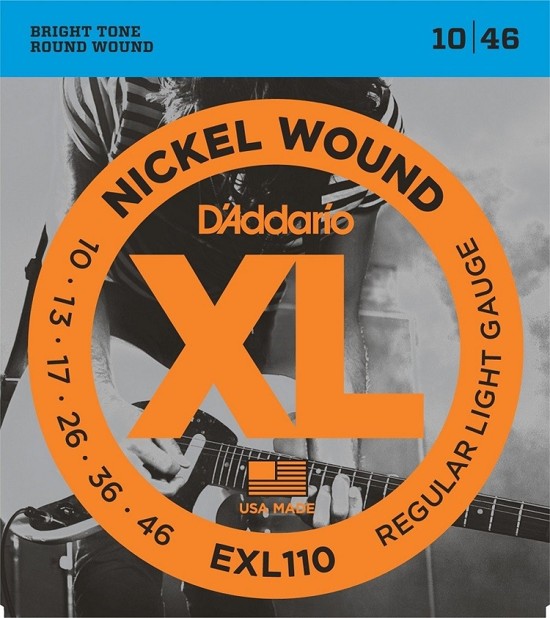 Encordoamento Daddario Regular Light EXL110-B 010 P/ Guitarra + Extra
