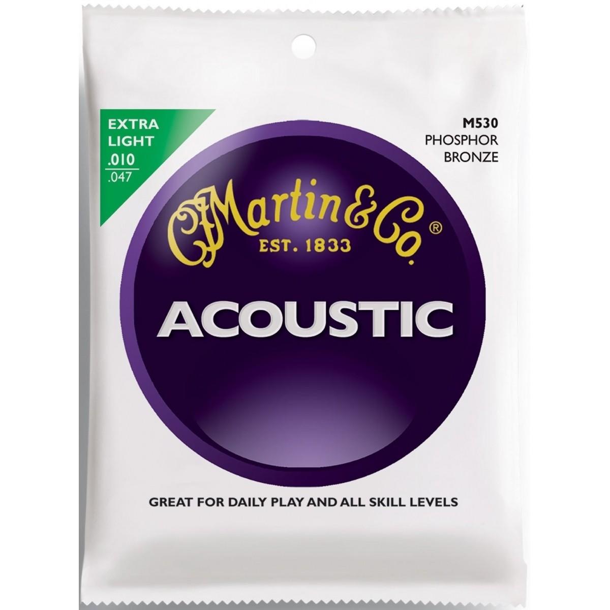 Encordoamento Martin M530 Phosphor Bronze 010 P/ Violão Aço