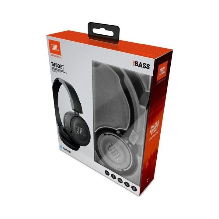 Fone De Ouvido JBL T450BT Preto Bluetooth C/ Microfone e Bateria